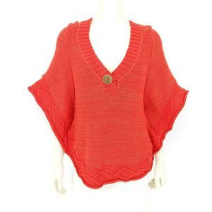 Free People Poncho Style Knit Sweater Top Medium